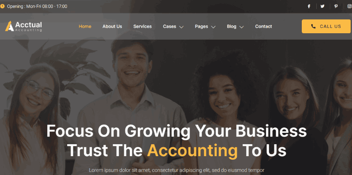 Acctual a CPA & accounting firm Website Theme