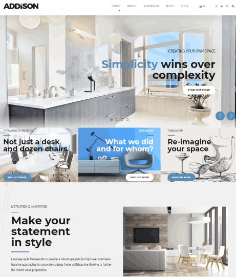 Addison a Architecture, Interior Staging Website Theme