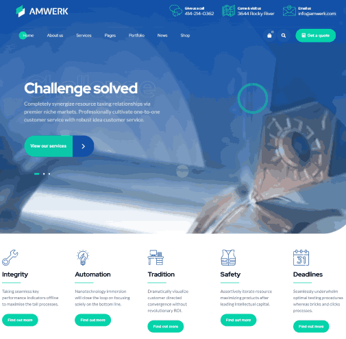 Amwerk a Industry WordPress Theme