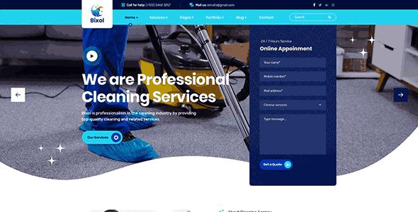 Bixol a  pressure washing website templates