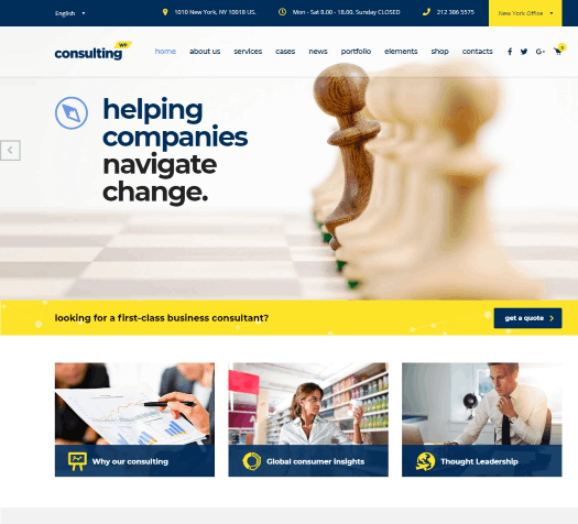 Consulting – Business & Finance WordPress Theme