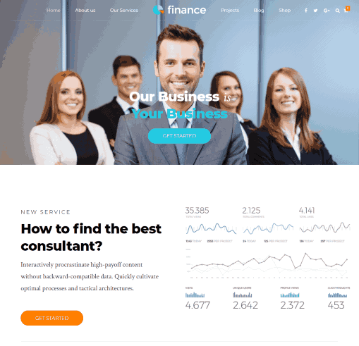 Finance a CPA, Finance, and Consultation Service WordPress Theme