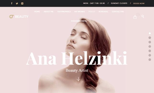 Hair Salon a Hair Dresser Website template