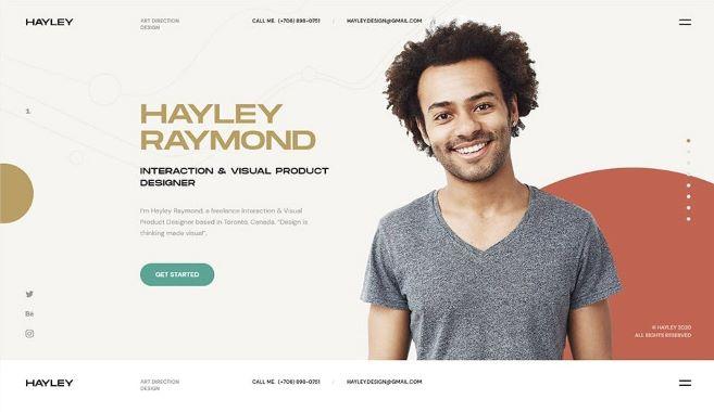 Hayley a Full Stack Web Developer Portfolio Template