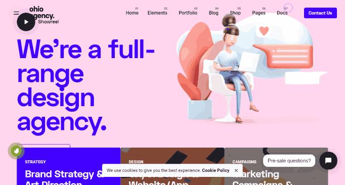 Ohio a Creative data science portfolio website template WordPress