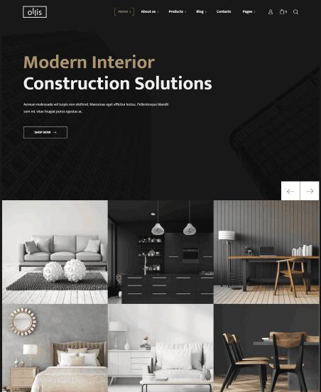 Ollis a Interior Designing & Staging WordPress theme