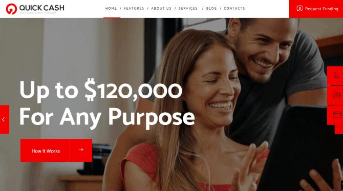 Quick Cash a Finance Advisor & Broker Agency WordPress Template