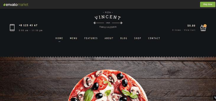 Restaurant Vincent WordPress theme