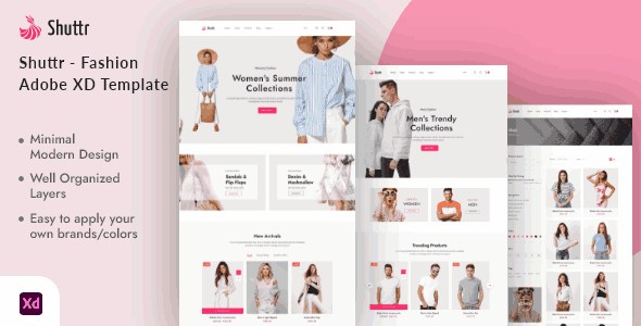 Shuttr a Fashion template for eCommerce