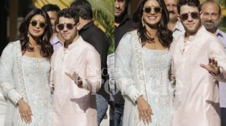 Priyanka Chopra and Nick Jonas Begin PUJA Ceremony in India! image