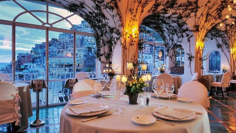 Le Sirenuse Hotel, Positano, Italy fine dining