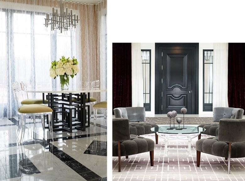Jamie Herzlinger designer - Casa Blanca Foyer & Breakfast room