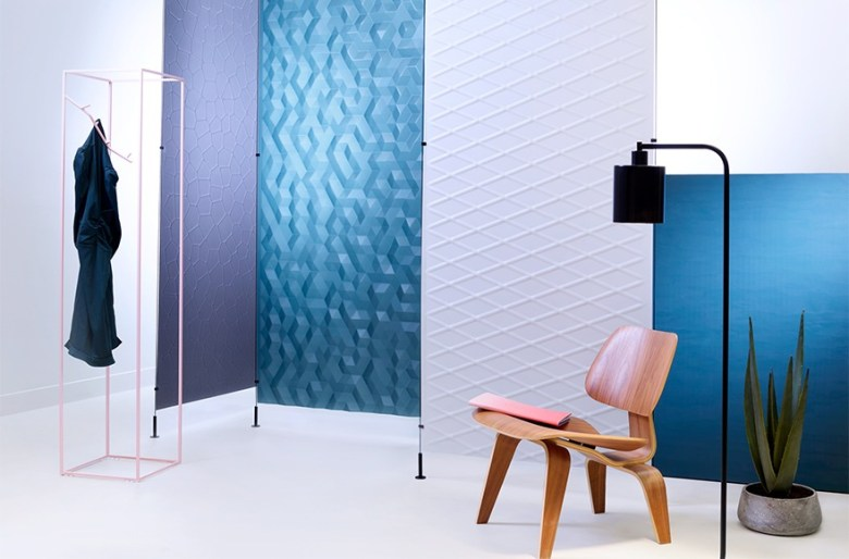 Cool water colors in trendy home decorating and design