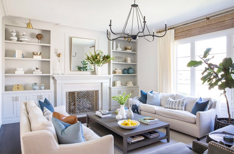 Cool water colors in home decorating