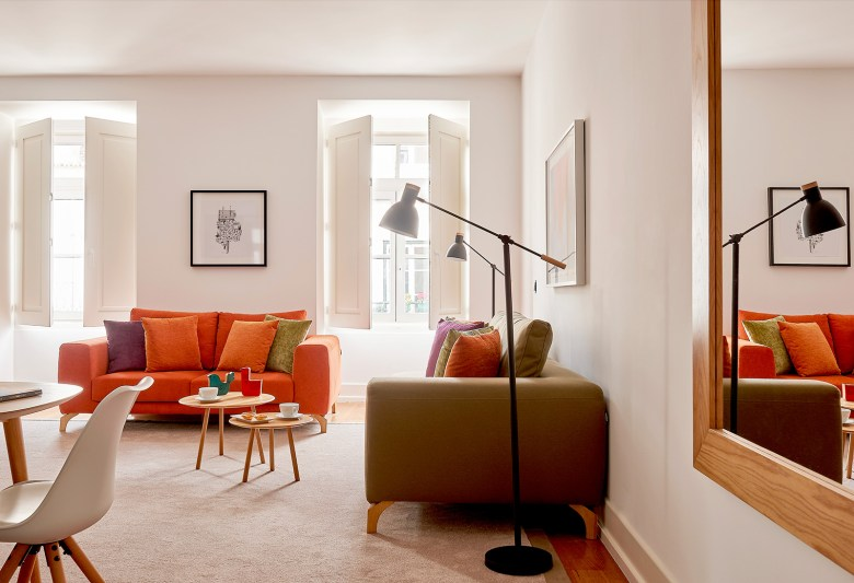 luxury Portuguese interior design apartment at the Martinhal Resort in Lisbon