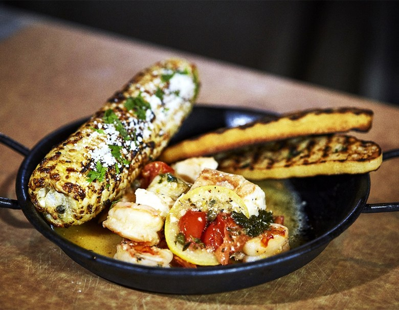 Grilled Frutti Di Mare with Loco Elote
