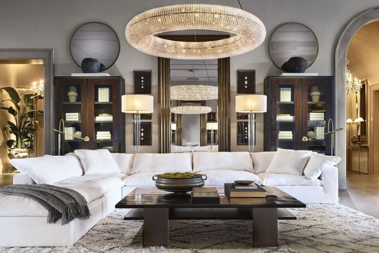Living room Restoration hardware palm beach