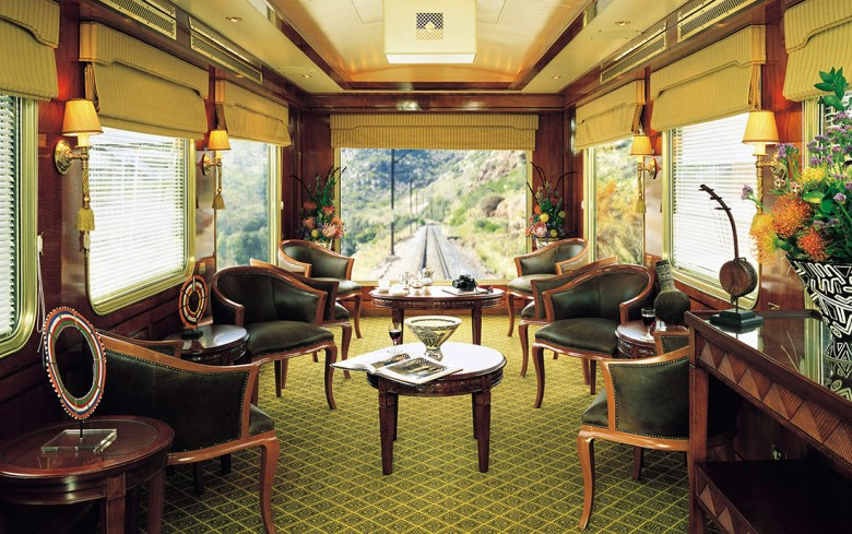 The blue train luxury train travel