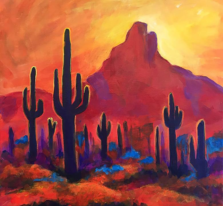 Arizona Dusk By Carrie Curran
