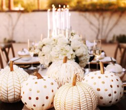 Modern White Pumpkins for Halloween
