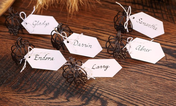 Halloween place setting name tags