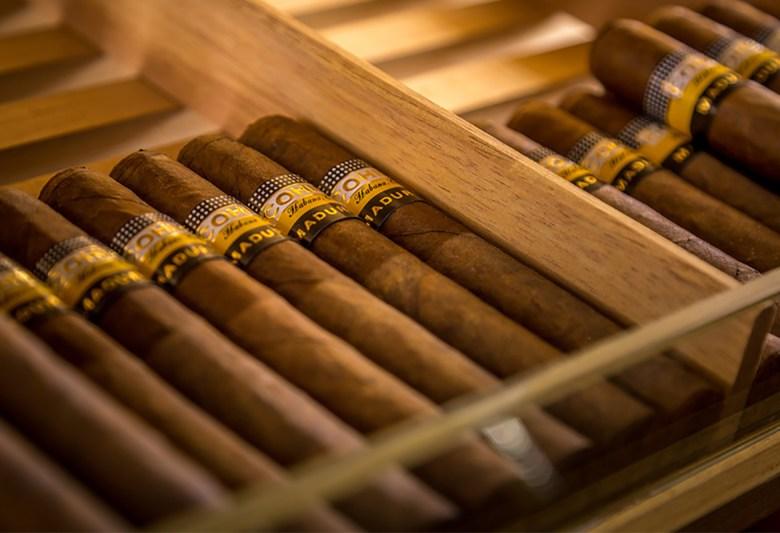 Humidor cigars, courtesy of Cigars at No. Ten