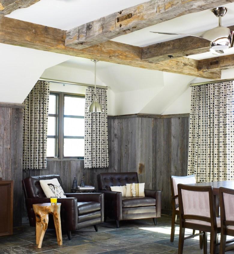 Man Cave Modern Farmhouse Bouton & Foley Interiors