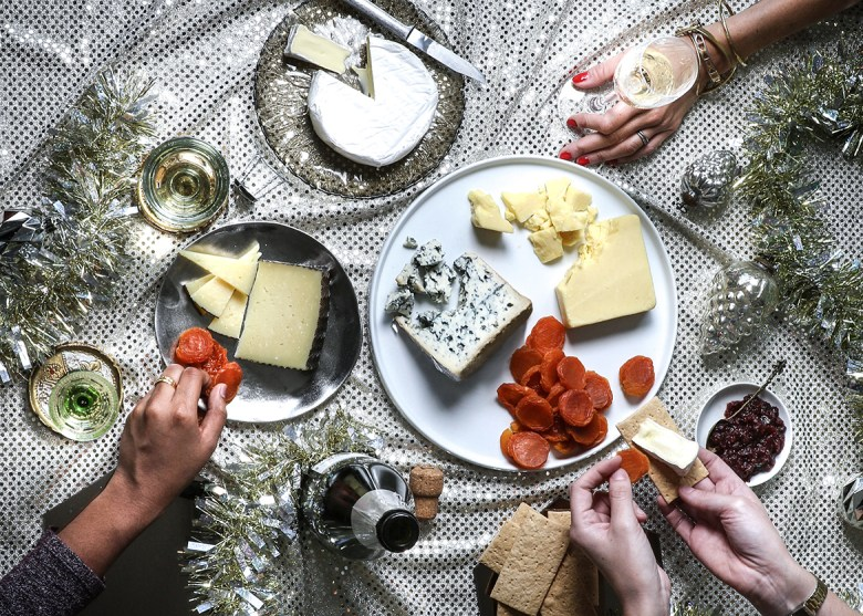 THE MOST DECADENT NIGHT EVER AT MURRAY'S CHEESE – New York, New York - Murray's Cheese Spread Holiday party