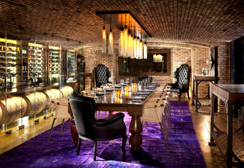 Rancho Valencia Wine Room