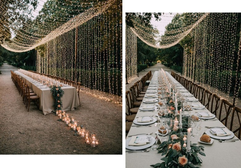 New Year's Eve tablescape lights by 100 Layer Cake