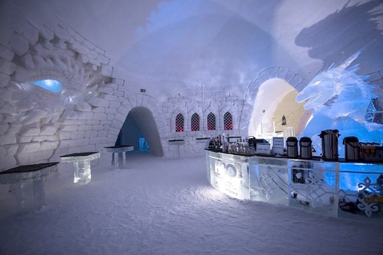 SNOWVILLAGE – Kittilä, Finland - Ice Hotel - Game Of Thrones bar