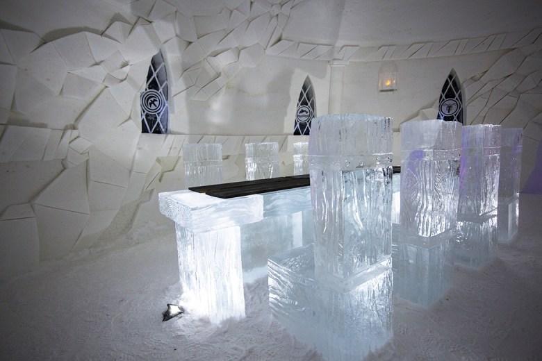 SNOWVILLAGE – Kittilä, Finland - Ice Hotel - Ice dining