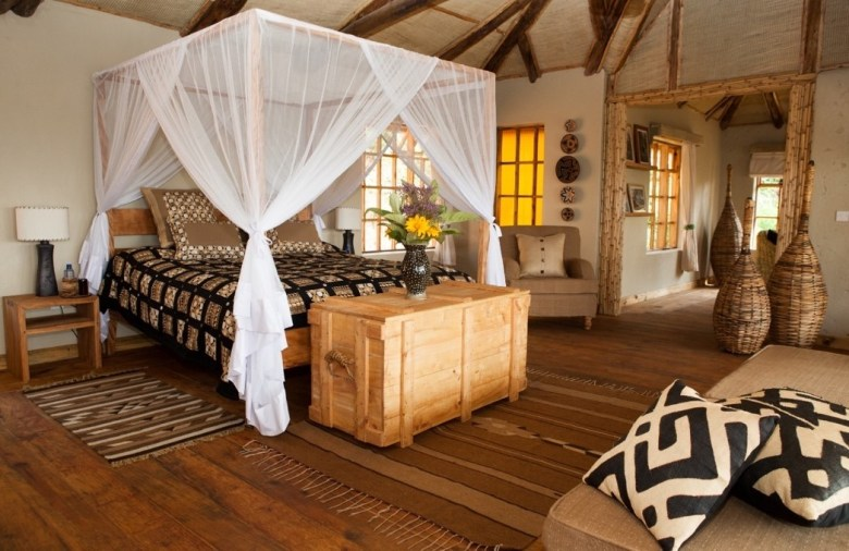 Virunga Lodge - bwindi bed room