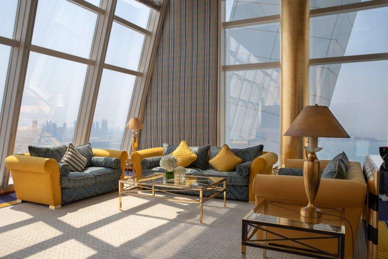 Burj Al Arab room view in Dubai