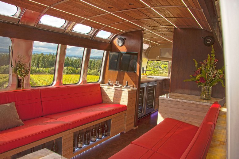 Tricked-Out Airstreams - Red and Wood Interior