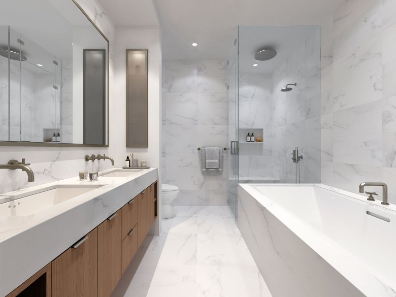 Meshberg Group - 15 Jay Street in Tribeca NYC - Bathroom