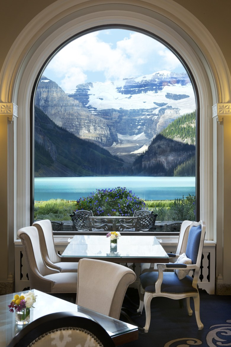 Fairmont Chateau Lake Louise Dining Room Lake View