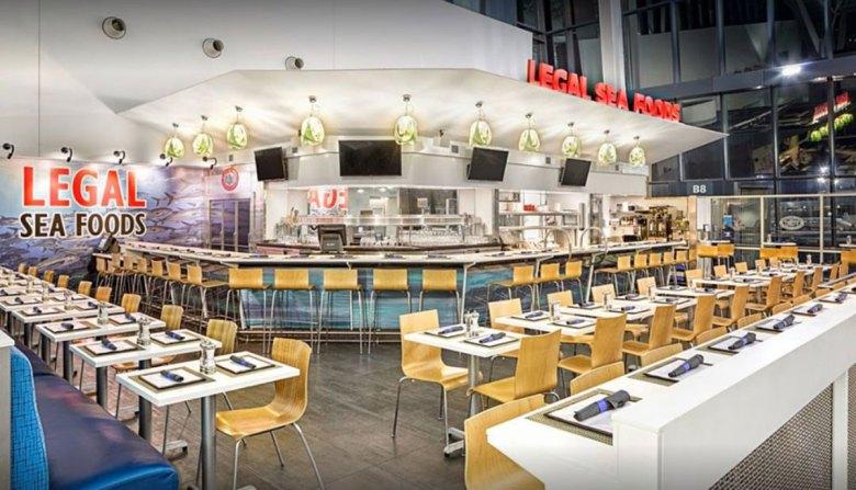 Legal Sea Foods Restaurant Boston Logan International Airport dining