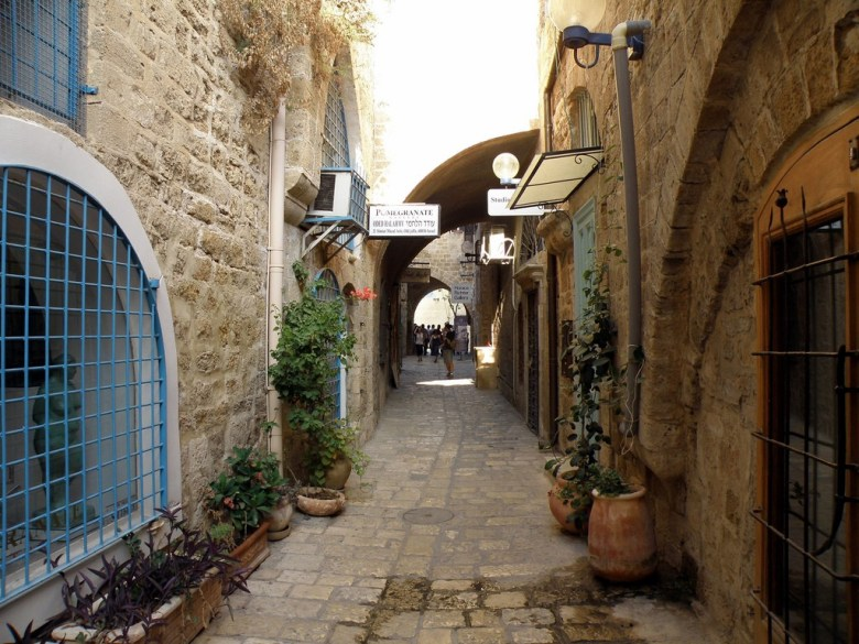 old galleries and artisans studios in the hidden alleyways of Jaffa