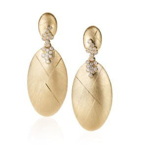 Constellation Large Oval Drop Earrings by Adam Foster