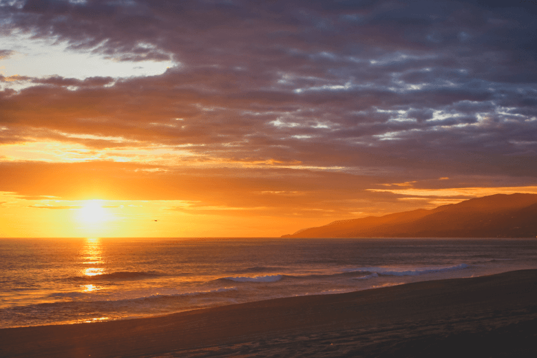 Point Dume State Beach in California at Sunset