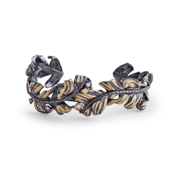 Plume Feather-Style Cuff Bracelet by Adam Foster