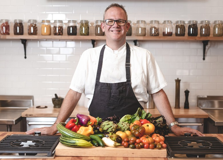 Chef James Porter at Terra Farm + Manor