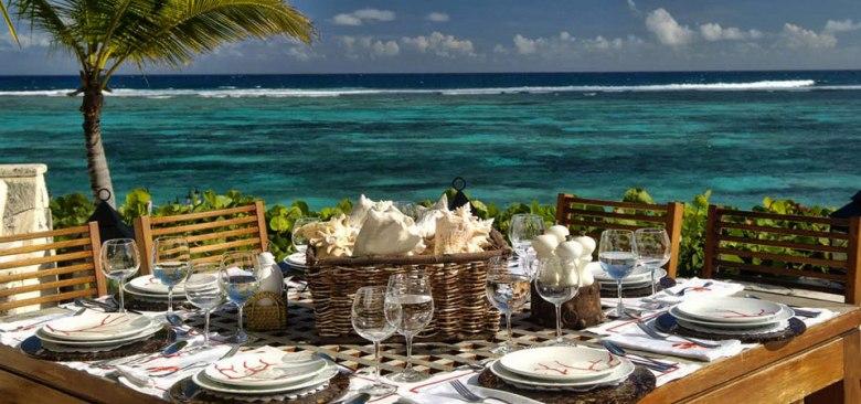 dinner at Puntacana vacation rental