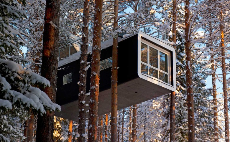 The Cabin treehouse hotel Sweden exterior