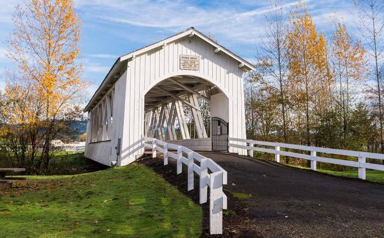 Weddle covered bridge Sweet Home Oregon