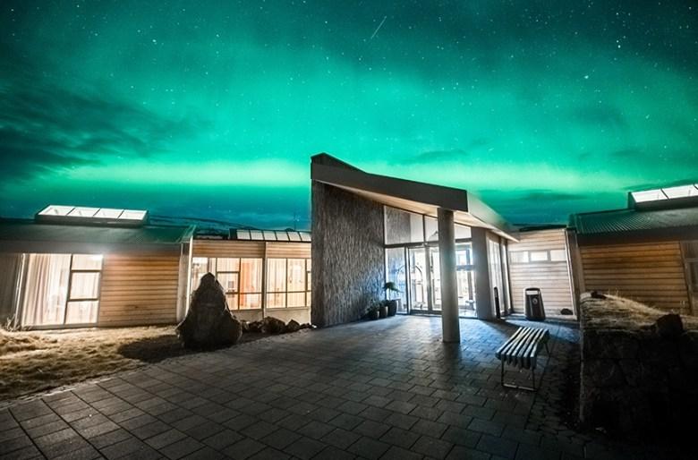 Hotel Husafell Northen lights Iceland