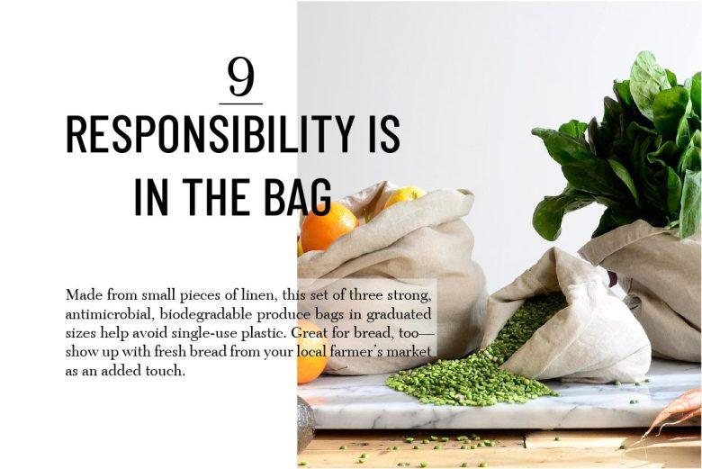 Rough linen produce bags best hostess gifts