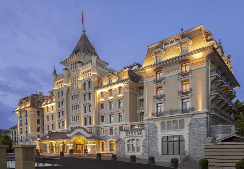 Royal Savoy hotel Lausanne Switzerland entrance