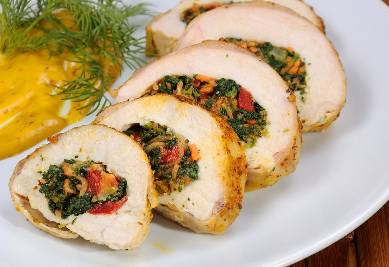 personal chef to cook stuffed chicken